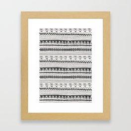 Dark aztec Framed Art Print