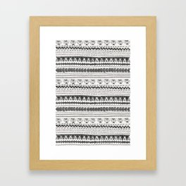 Dark aztec Framed Art Print