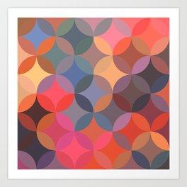 Moroccan pattern multicolor Art Print