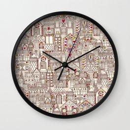 gingerbread town Wall Clock