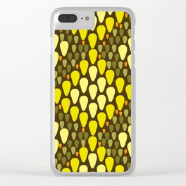 golden snakeskin Clear iPhone Case