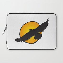 Sun and Bird Flying Laptop Sleeve