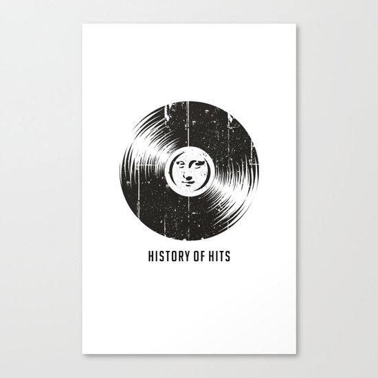 History of Hits Canvas Print
