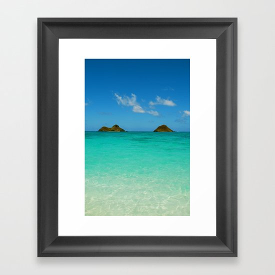 Turquoise Waters Framed Art Print