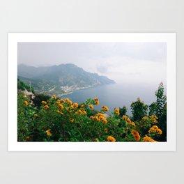 Flowers of the Amalfi Coast Art Print