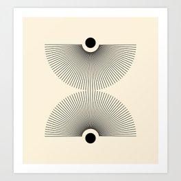 Abstraction_NEW_SUN_LINE_POP_ART_Minimalism_027AA Art Print