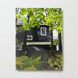 Orange House Metal Print