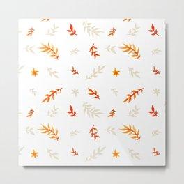 Watercolor autumn Metal Print