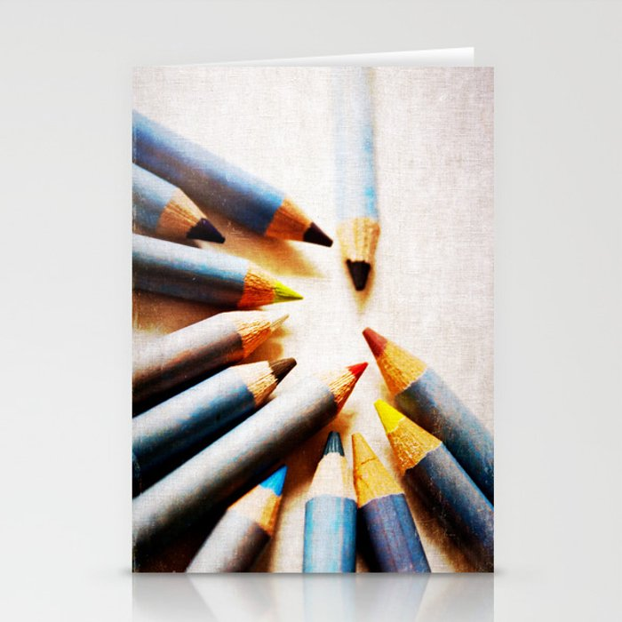 Pencils Stationery Cards