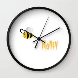 Sweet as Bee? He's my Honey T-shirt Design Husband Marriage Relationship Relation Married Boyfriend Wall Clock