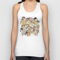 it crowd Tank Tops featuring Crowd by cmdonodraws