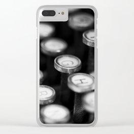 Typewriter keys Clear iPhone Case