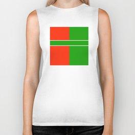 Team Color 6...green,red Biker Tank
