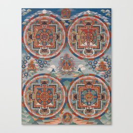 Four Mandalas 18th Century Tibetan Buddhist Painting Canvas Print