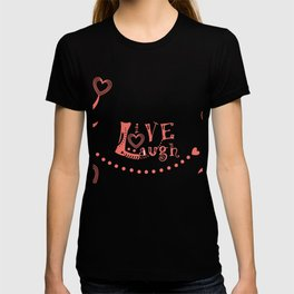 Live Love Laugh in Coral T-shirt