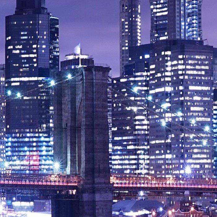New York City Night Lights : Periwinkle Blue Leggings