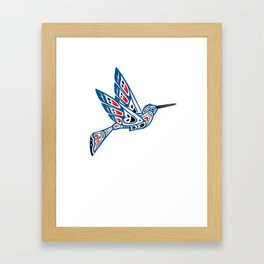 Hummingbird Pacific Northwest Native American Indian Style Art Framed Art Print