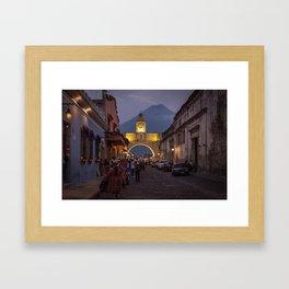 Santa Catalina Arch at Night Framed Art Print