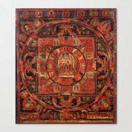 Mandala of Amogapasha Canvas Print