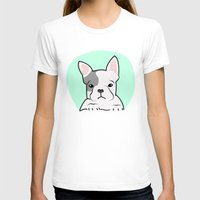 frenchie T-shirts featuring Frenchie by Pati Designs
