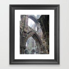 Whitby Abbey in Fog #2 Framed Art Print