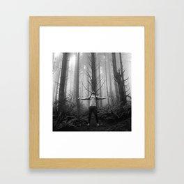 Metal Moment: Woods Framed Art Print