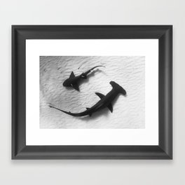 Shark Yin Yang Framed Art Print