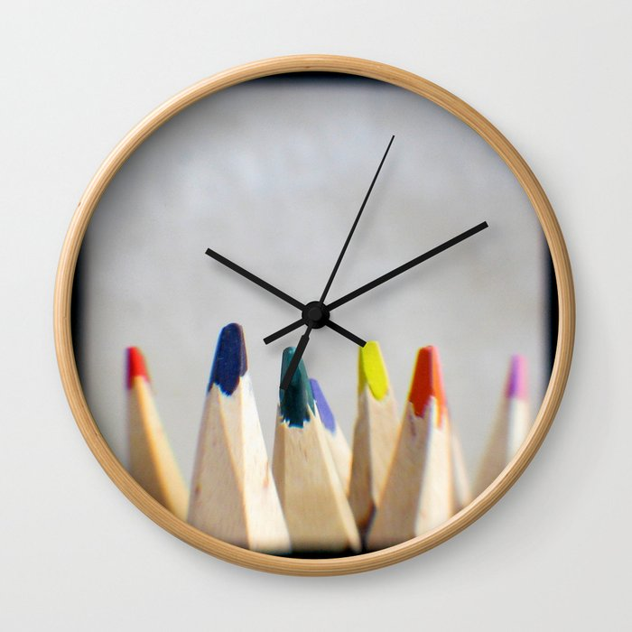 Pencils Photograph Wall Clock