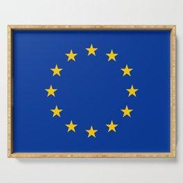European Union EU Flag Serving Tray