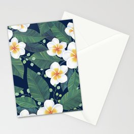 Plumeria Pattern Stationery Cards