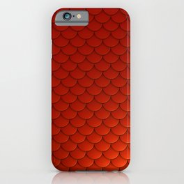 Red Mermaid Scales iPhone Case