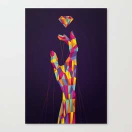 Diamond Hand Canvas Print