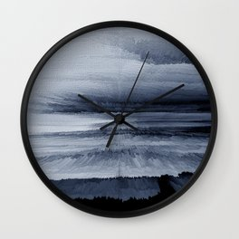 Abstract black painting 2 Wall Clock