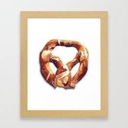 German Soft Pretzel Framed Art Print