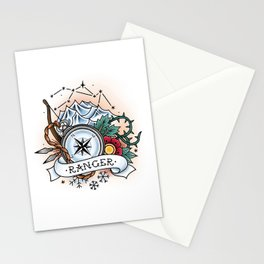 Ranger - Vintage D&D Tattoo Stationery Cards