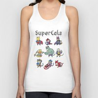 superheros Tank Tops featuring SuperCats by trheewood