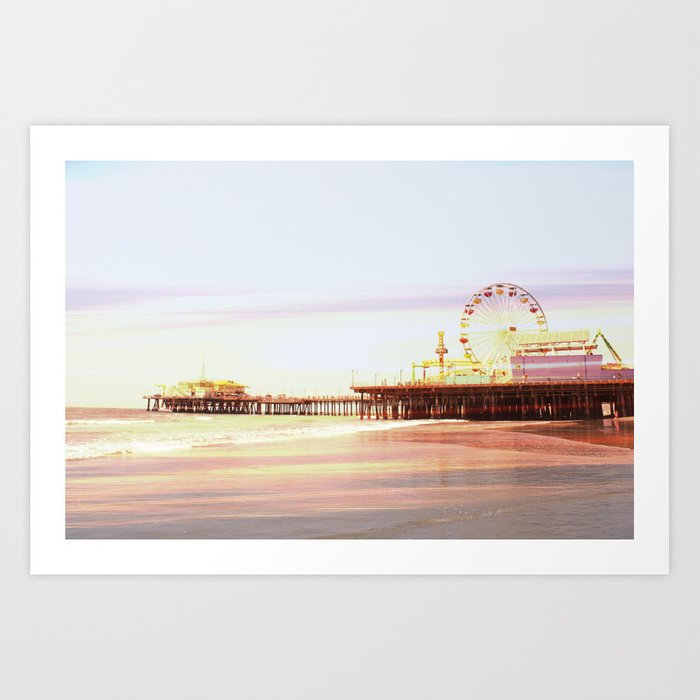 Santa Monica Pier Sunrise Art Print