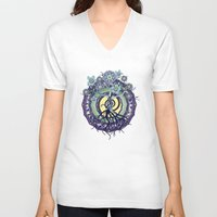buddhism V-neck T-shirts featuring Tree of Knowledge by DebS Digs Photo Art