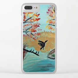 Autumn Duck Pond Clear iPhone Case