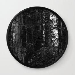 Redwood Forest VII Wall Clock