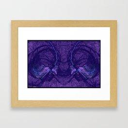 Frakblot Grape Framed Art Print