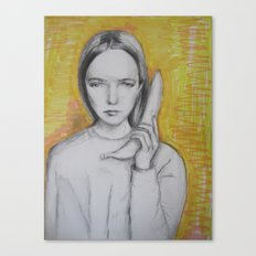 b-a-n-a-n-a-s  Canvas Print