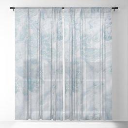 seafoam xii Sheer Curtain