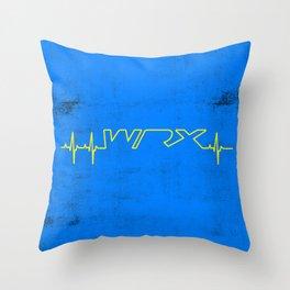 WRX Heartbeat Throw Pillow