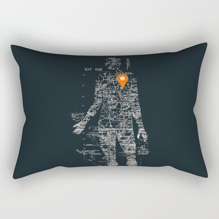 Travel With Me Rectangular Pillow