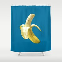 banana Shower Curtains featuring Banana by Liam Brazier