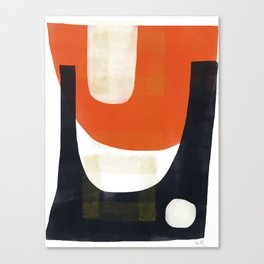 Vermillion and Navy Scoop with Masking Tape Canvas Print
