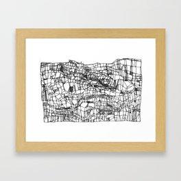 deconstructed knit Framed Art Print