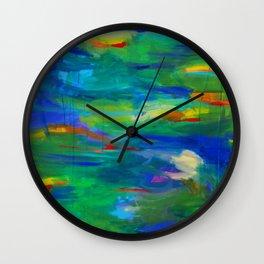 Distant hills Wall Clock