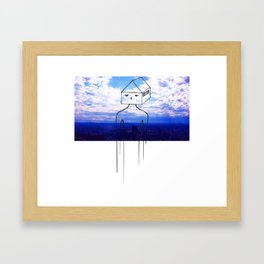 Head in the clouds, so is my house Framed Art Print